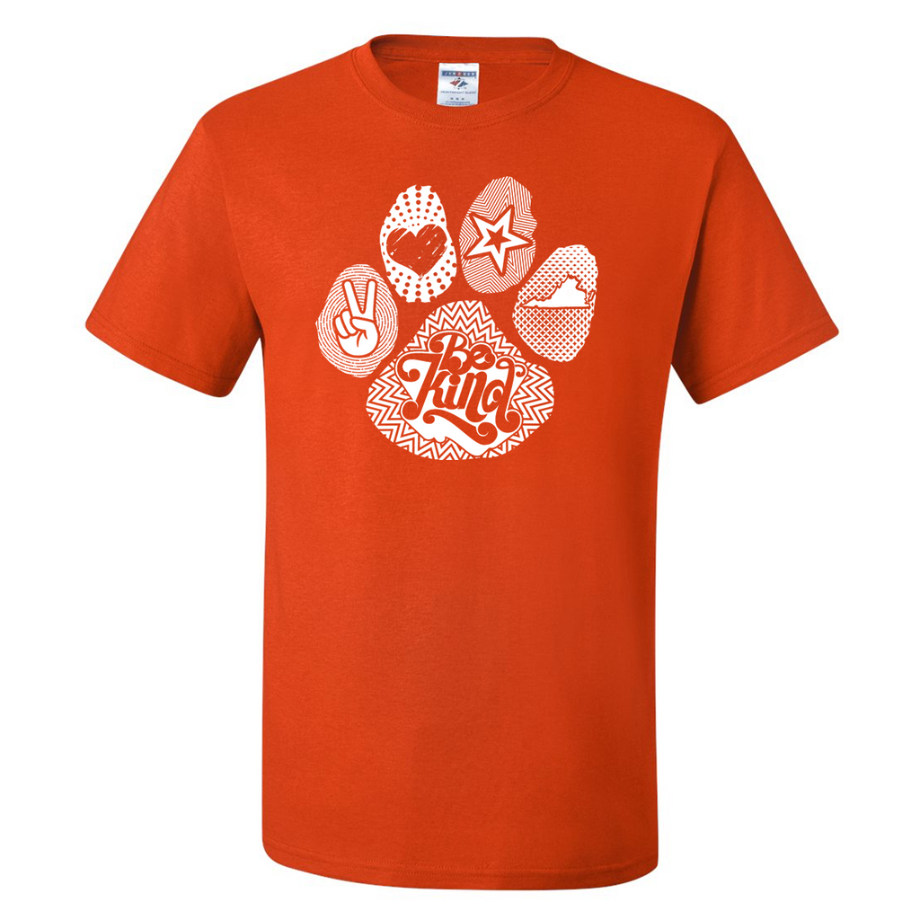 Groovy Paw Print Tee - Burnt Orange