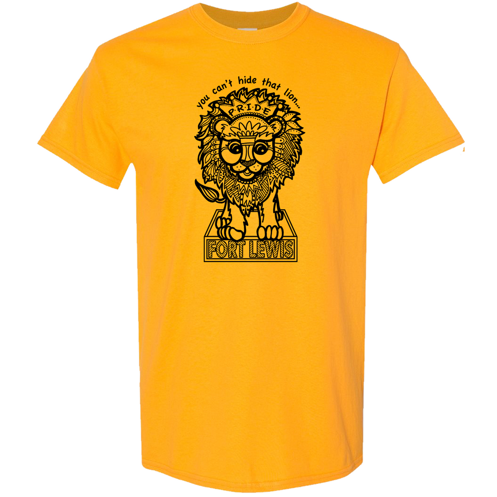 Fort Lewis Lion Pride Basic Cotton Tee - Gold