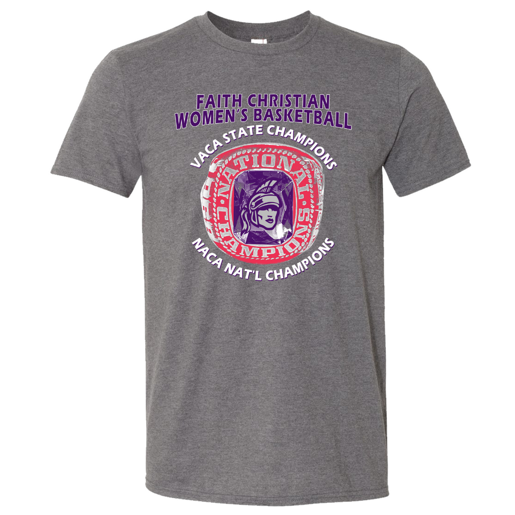 FCS Women's Basketball Champions Tee - Heather Grey