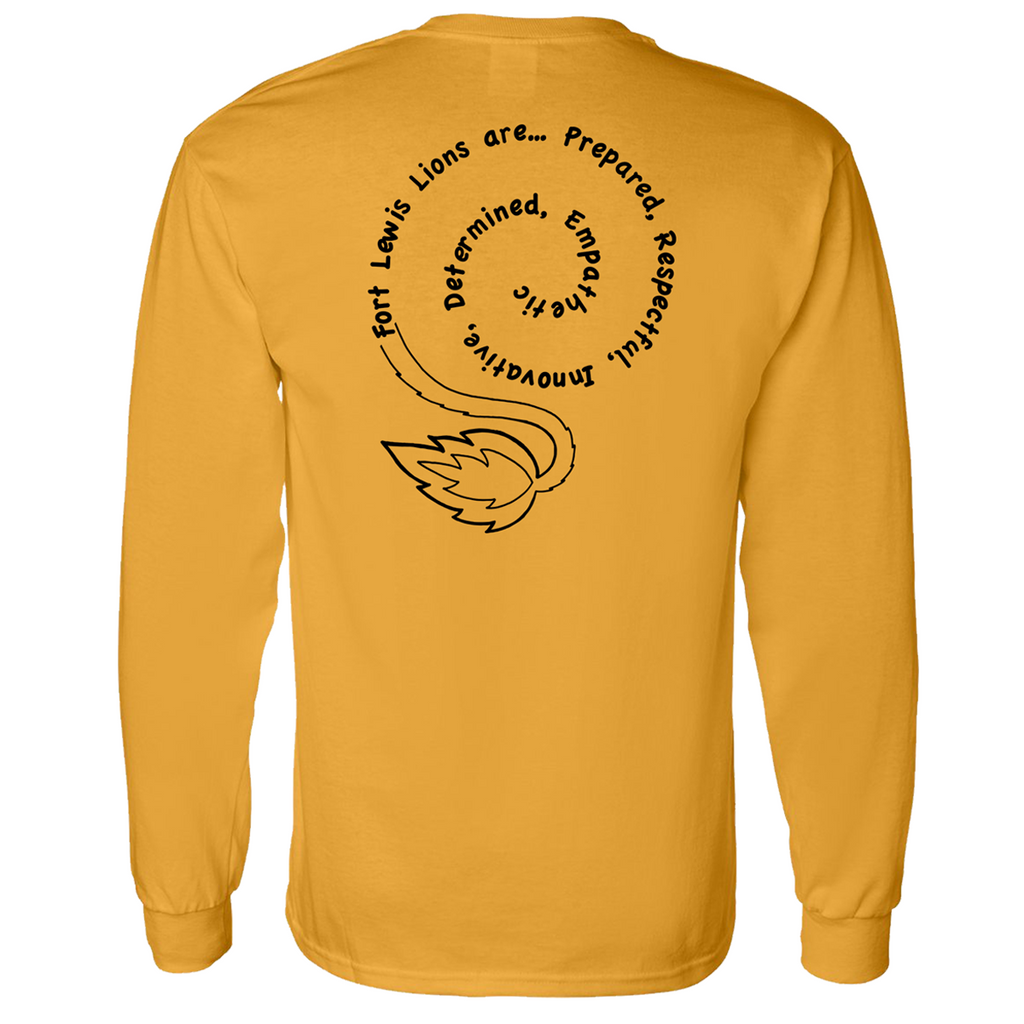 Fort Lewis Lion Pride Basic Long-Sleeve Tee- Gold