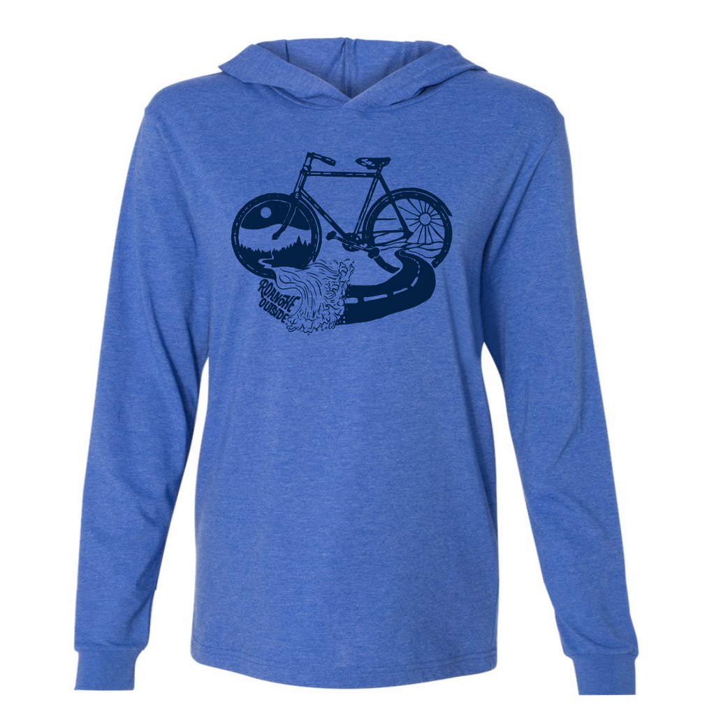 2020 GoFest - Bike Hooded Long Sleeve Tee (Heather True Royal)