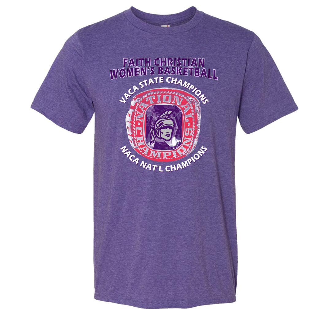 FCS Women's Basketball Champions Tee- Heather Purple