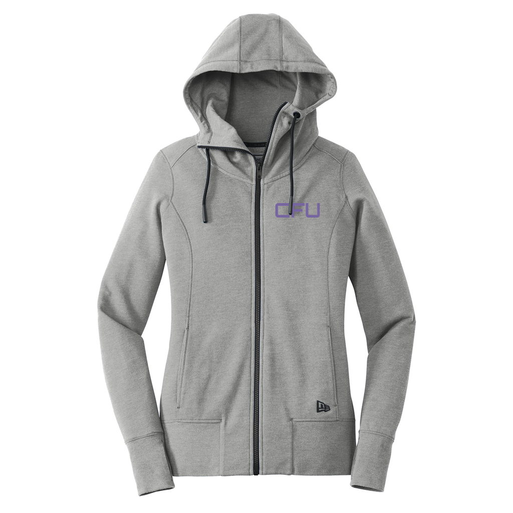 CFU New Era Ladies Fit Full Zip Hoodie - Shadow Grey Heather