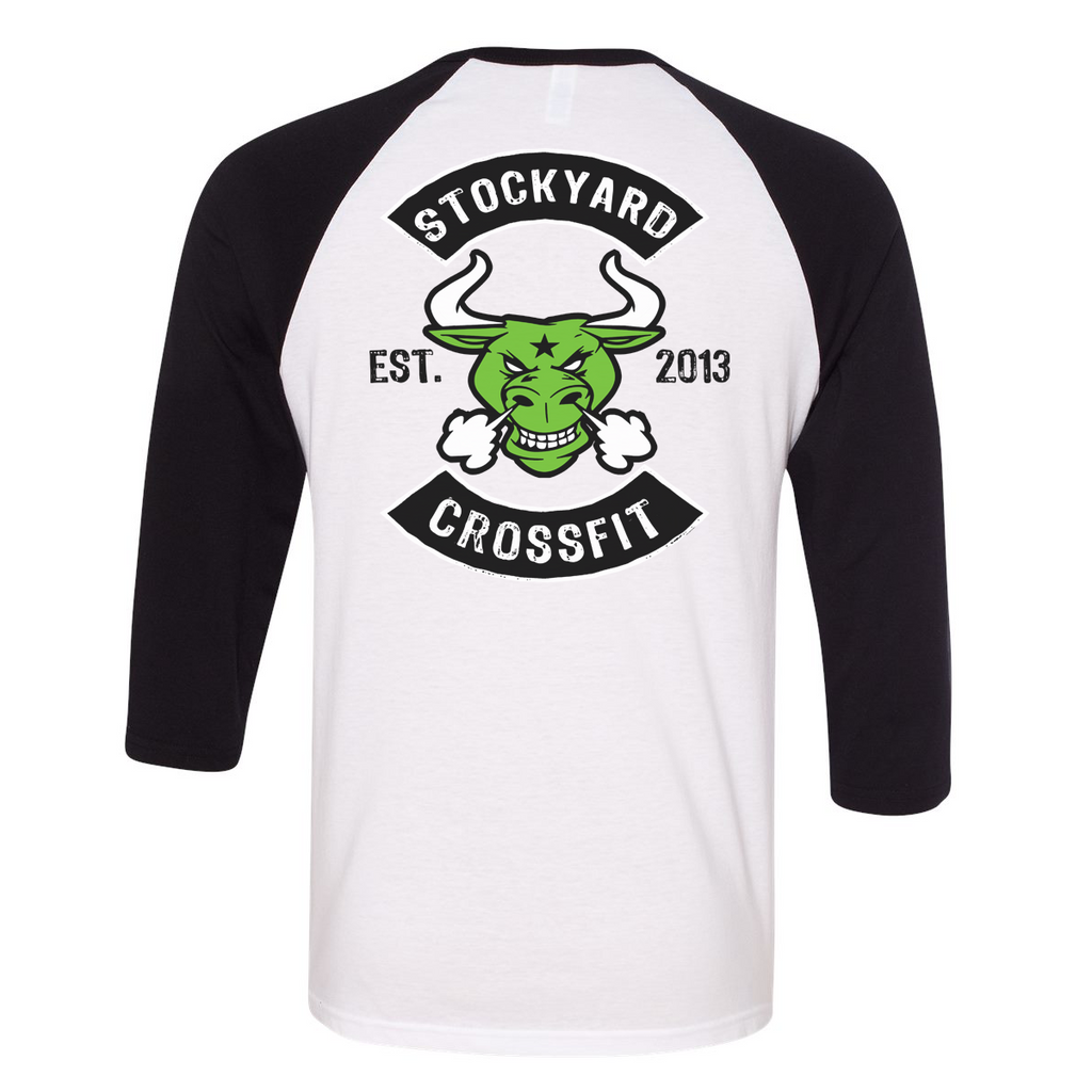 Stockyard Bull - 3/4 Sleeve Raglan T-Shirt