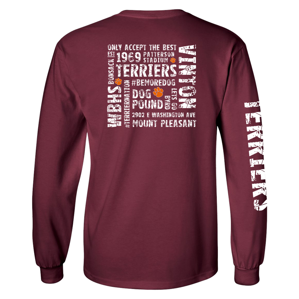 Terriers Long Sleeve - Maroon