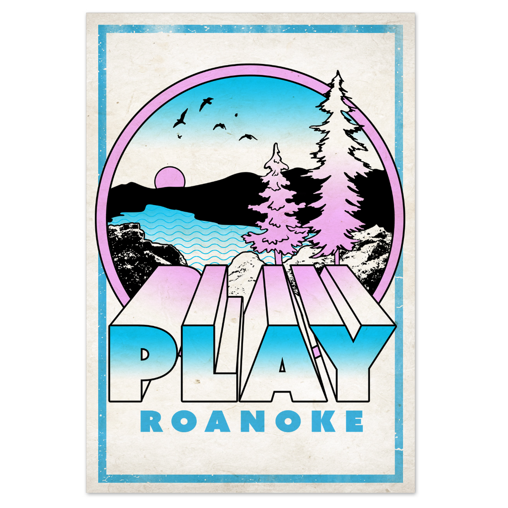 PLAY Roanoke Carvins Post Card