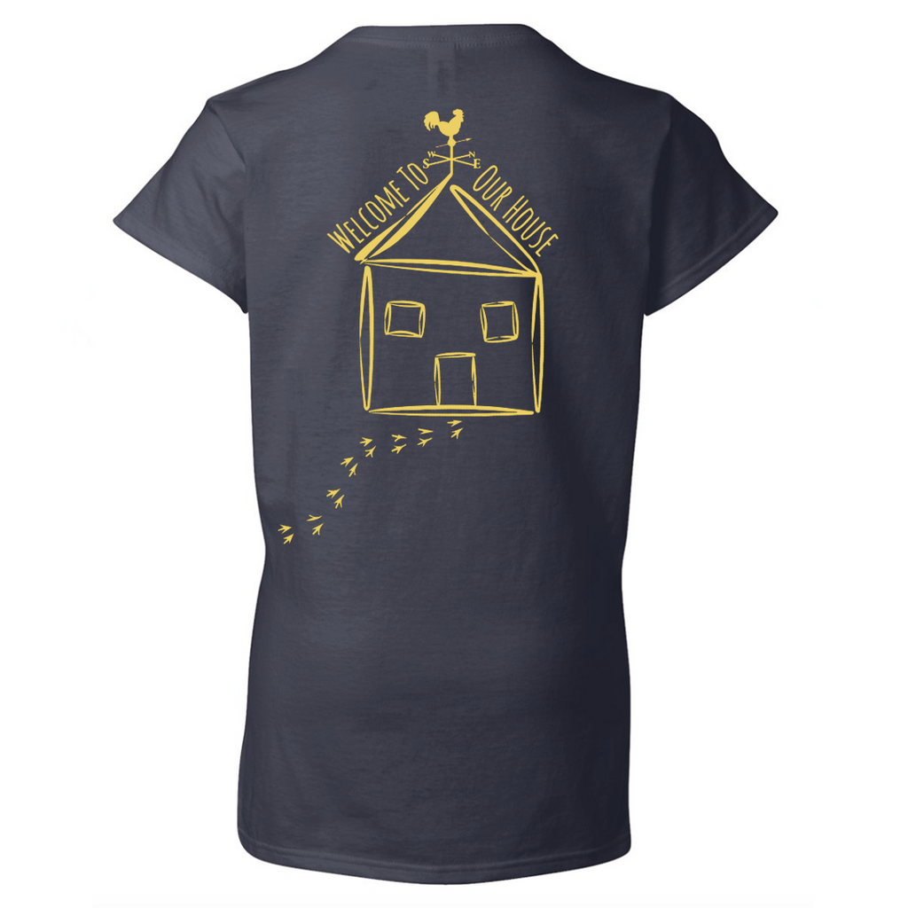 Ladies V-Neck T-Shirt - Navy