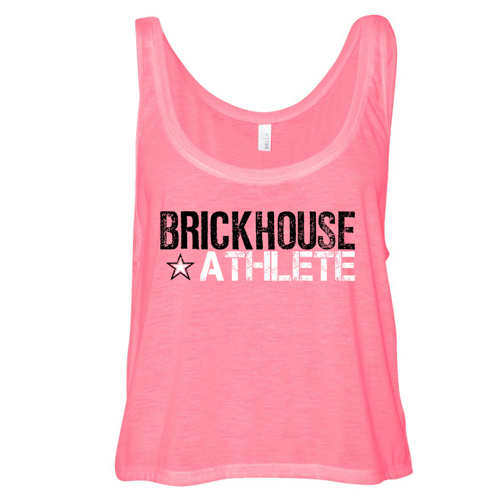 Brickhouse Athlete - Women's Crop Top Neon Pink