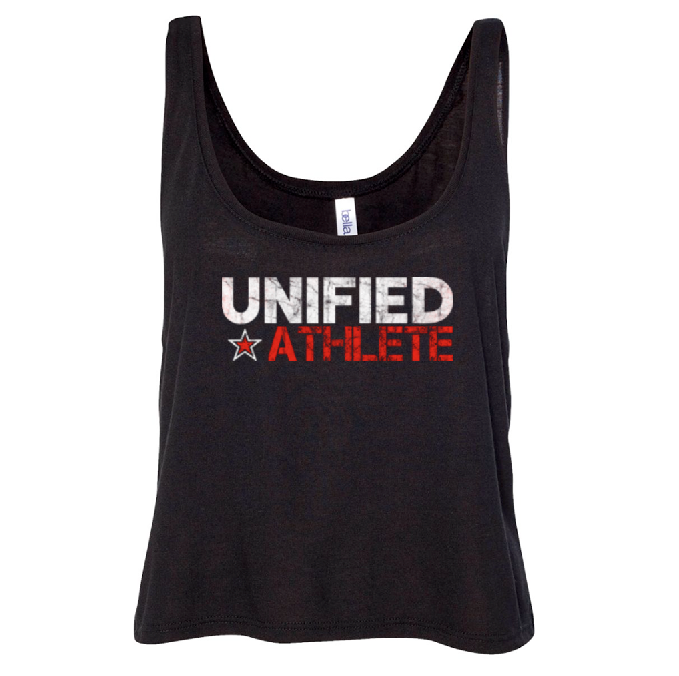 Unified Athlete Crop Top - Solid Black