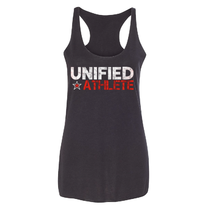 Unified Athlete Tri-Blend Racerback Tank - Solid Black