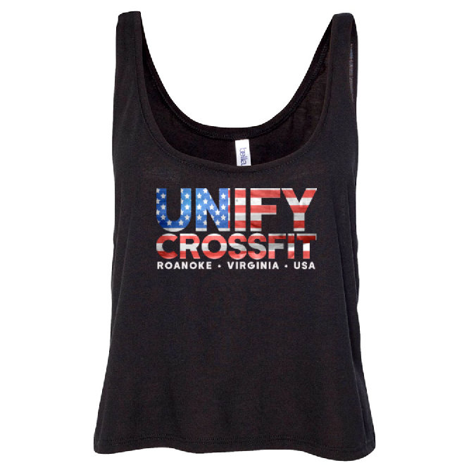 Unify Flag Crop Top - Solid Black