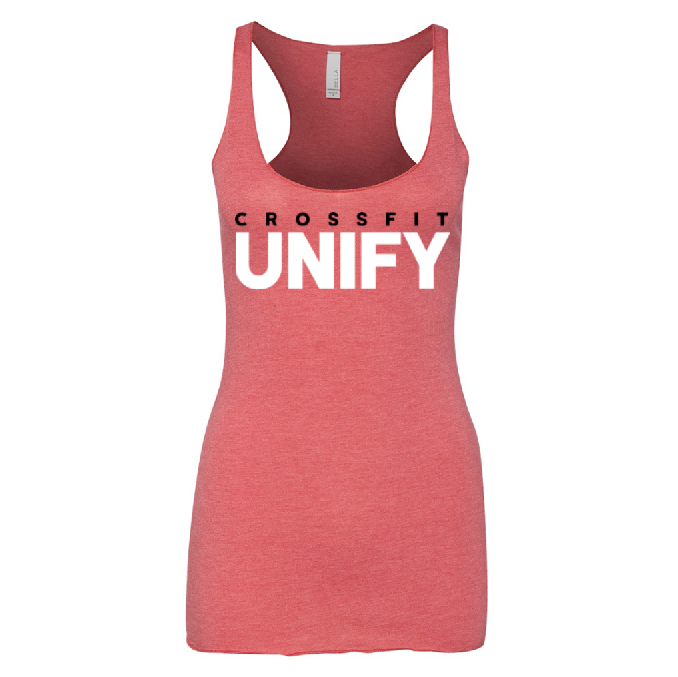 Unify Logo Tri-Blend Racerback Tank - Red