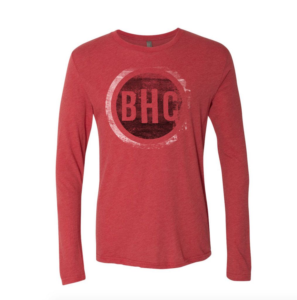 Circle BHC Logo L/S Tee (Vintag Red)