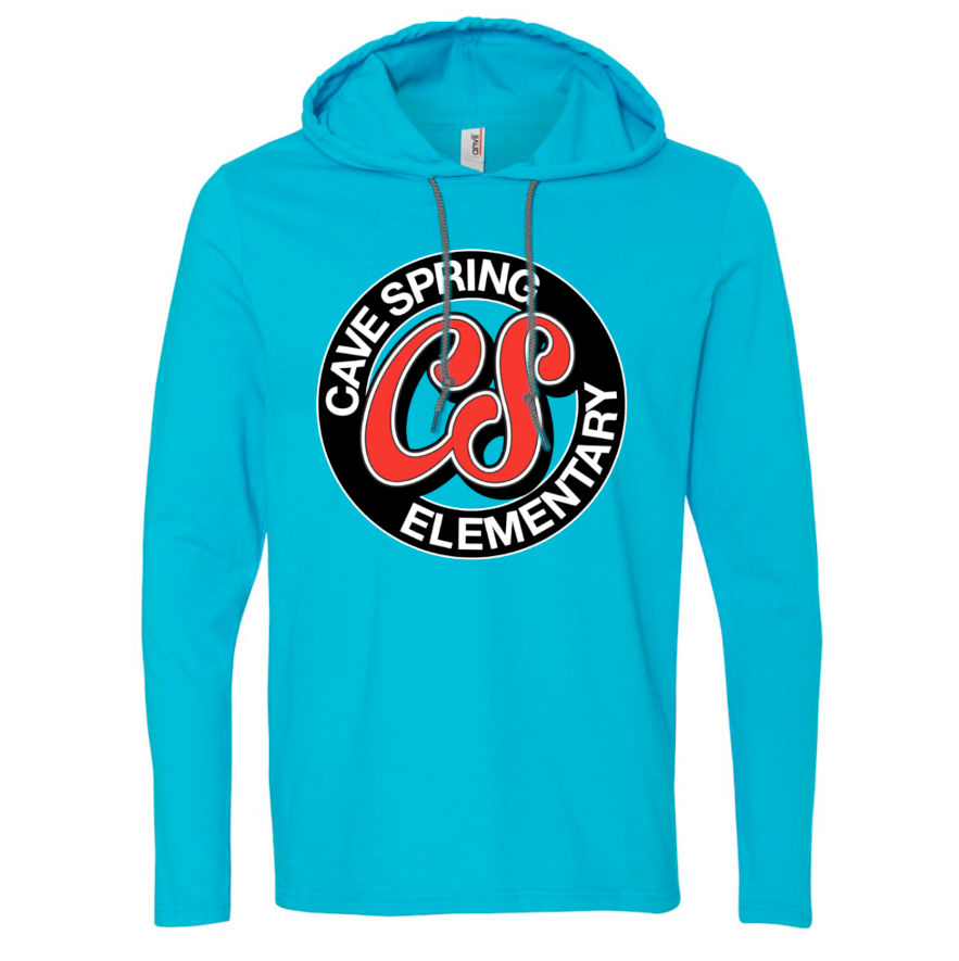 Long Sleeve Hooded T-Shirt - Caribbean Blue