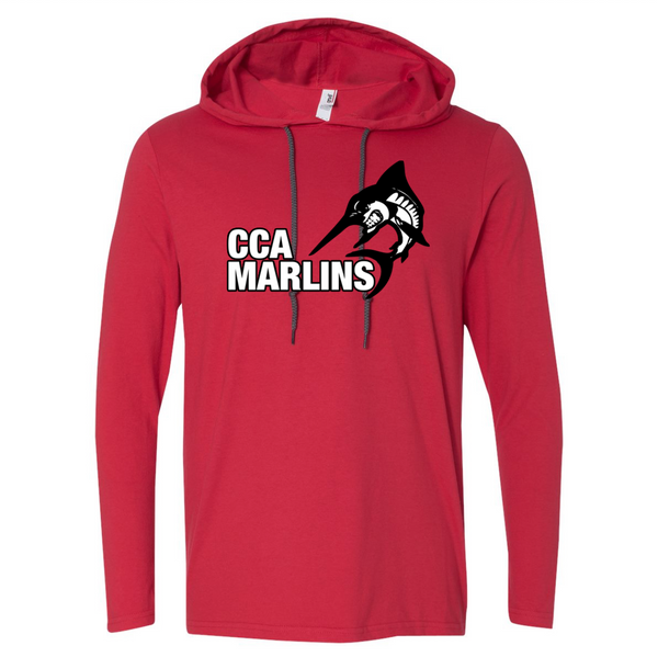 CCA Hooded Long Sleeve T-Shirt - Red