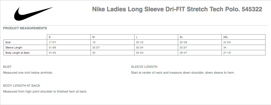 Nike Long-Sleeve Dri Fit Polo w. Embroidered Logo - Unisex & Ladies Options
