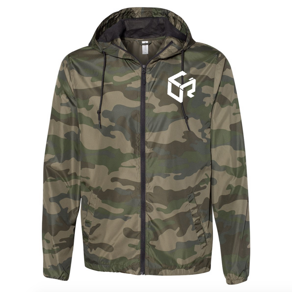 Unify Water-Resistant Windbreaker - Forest Camo