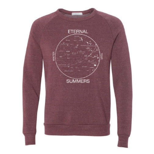 Eternal Summers Crewneck - Tri-Blend Red