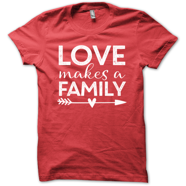 Love Makes a Family Tee - Red