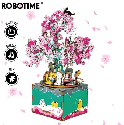 DIY Music Box-AM409-Cherry Blossom Tree