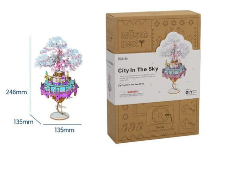 DIY Music Box City in the Sky -AM45