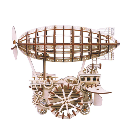 Wooden Mechanical Gears - Airship