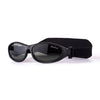 Idol Eyes Baby Wrapz Sunglasses Rubber Frame With Headband - Black