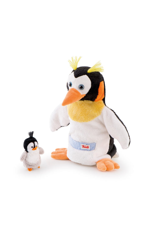 Trudi Hand Puppet Penguin & Baby Plush Toy - SuperSmartChoices