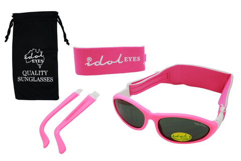 Idol Eyes Baby Wrapz 2 Headband Temple Convertible Sunglasses - Pink