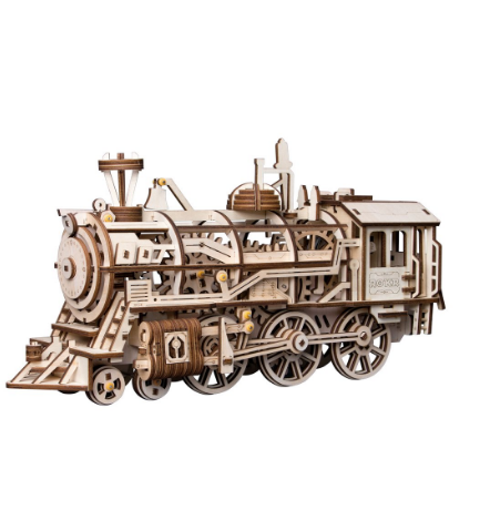 Wooden Mechanical Gears - Locomotive