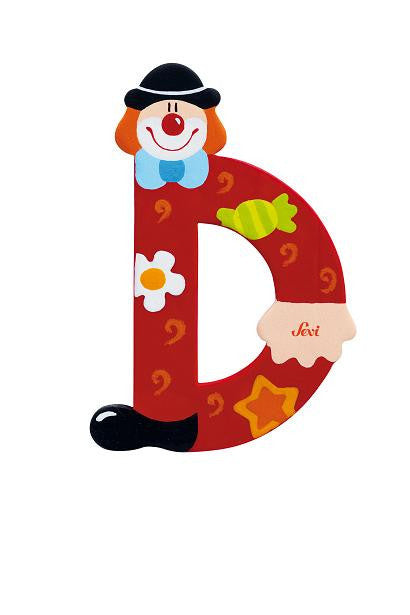 Sevi 1831 wooden toy - Graffiti - Letter D Clown (81740)