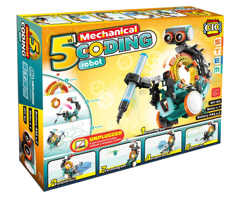 Programmable Mechanical Robot Coding Kit | STEM Educational Toys for Kids 10+
