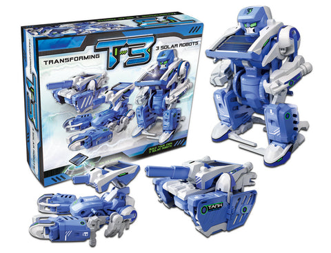 3-in-1 Educational T3 Solar Transforming Robot Science Kit DIY - SuperSmartChoices - 1