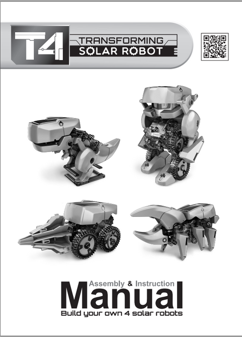 FREE Download T4 Transforming Solar Robot Instruction Manual in English