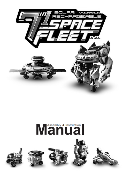 FREE Download 7 in 1 Solar Rechargeable Space Fleet Instruction manual