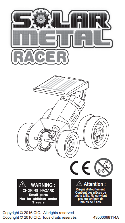 FREE Download Rookie Solar Racer V2 Kit Instruction Manual in English