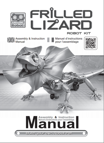 FREE Download Kingii Dragon Robot Science Kit Instruction Manual In English/ French