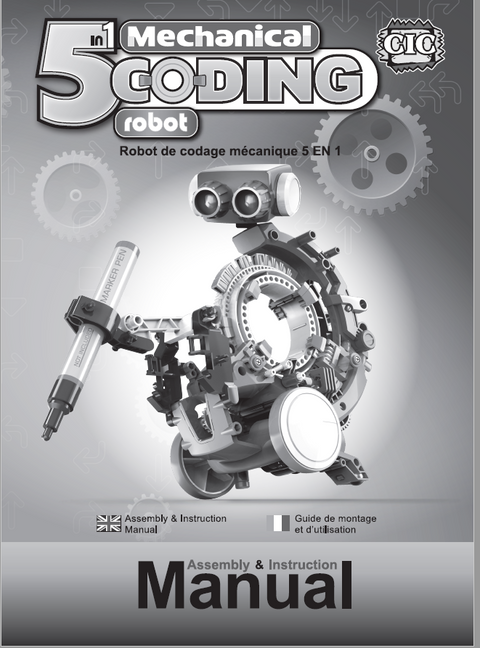 FREE Download 5 in 1 Coding Robot  Instruction Manual in English