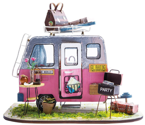 DIY Miniature Dollhouse Kit - Happy Camper-Robotime-Unicorn Enterprises Corp.