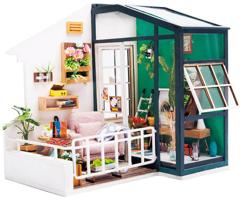 DIY Miniature Dollhouse Kit - Balcony Daydreaming-Robotime-Unicorn Enterprises Corp.