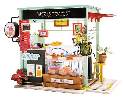 DIY Miniature Dollhouse Kit - Ice Cream Station-Robotime-Unicorn Enterprises Corp.