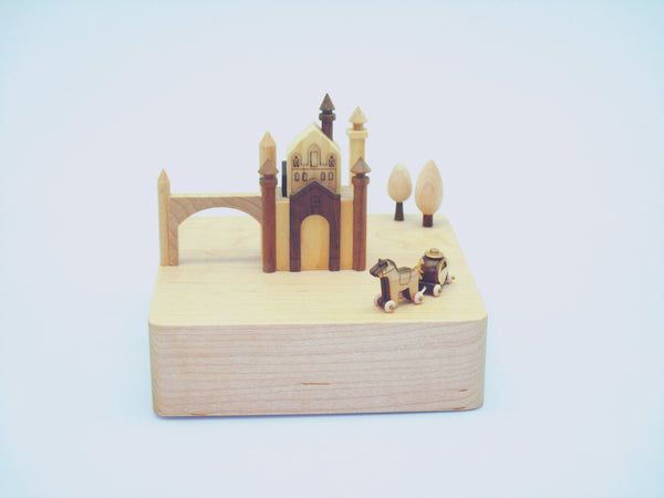 Wooderful Life Wooden Music Box Castle Amp Carriager