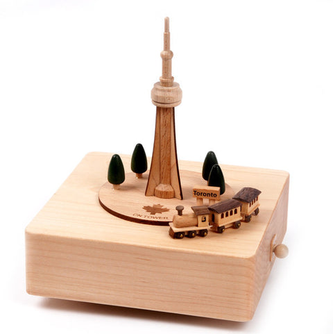 Wooderfulife Music Box-CN Tower & Train - SuperSmartChoices - 1