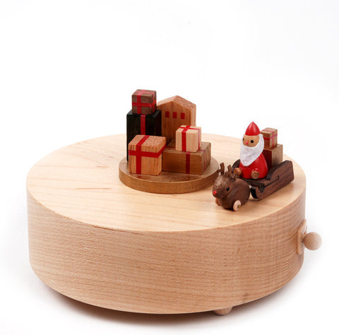 Wooderfulife Music Box-Sledding Santa - SuperSmartChoices