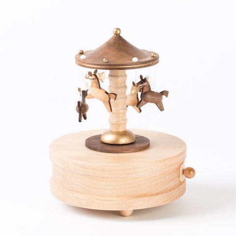 Wooderfulife Music Box- Merry-Go-Around