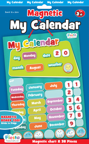 Magnetic Calendar Blue small 4+