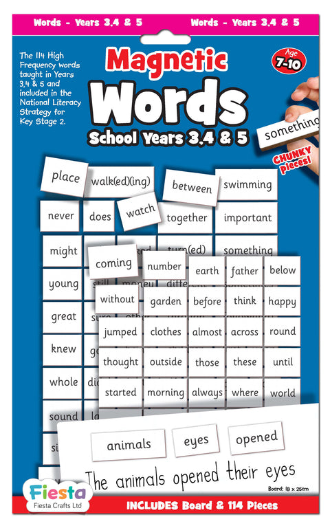 Magnetic -Words Years 3 , 4, 5