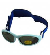 Idol Eyes Baby Wrapz Sunglasses Rubber Frame With Headband - Light Blue