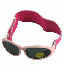 Idol Eyes Baby Wrapz Sunglasses Rubber Frame With Headband - Light Pink
