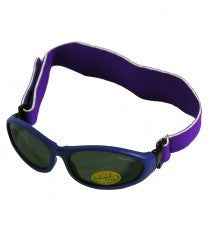 Idol Eyes Baby Wrapz Sunglasses Rubber Frame With Headband - Purple